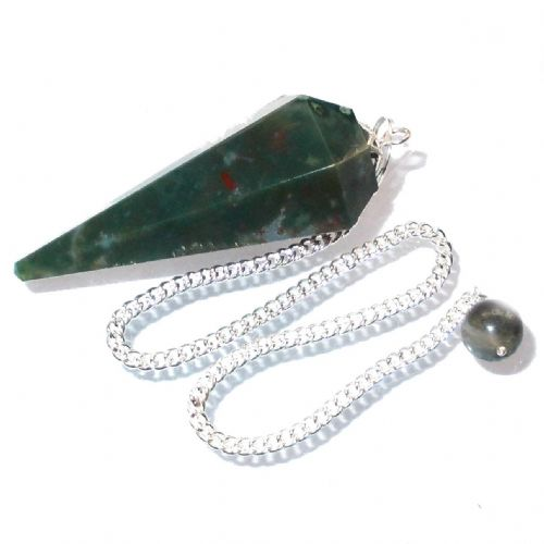 Bloodstone Point Pendulum Crystal Dowser